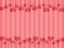 Röd hjärtavektor Royaltyfri Foto
