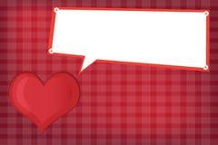 Röd hjärtavektor Arkivbilder