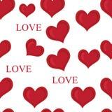 Röd hjärtavektorbakgrund Arkivfoto
