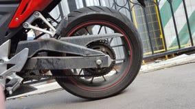 Röd Honda CBR 500 rr sportbike royaltyfri fotografi