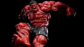Röd Hulk Royaltyfria Foton