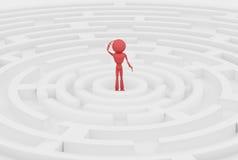 Röd human 3d. Royaltyfri Foto
