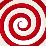 Röd hypnosspiralmodell optisk illusion Royaltyfri Bild