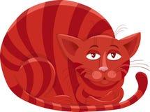 Röd illustration för kattteckentecknad film Fotografering för Bildbyråer