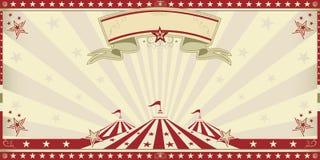 Röd inbjudan för cirkus Arkivfoton