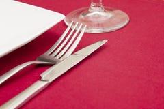 röd inställning för elegantt ställe royaltyfri fotografi