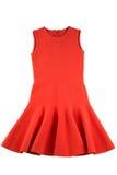 Röd isolerad ärmlös tröjaklänning Royaltyfri Bild
