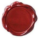 Röd isolerade vaxskyddsremsa eller signet Royaltyfri Foto