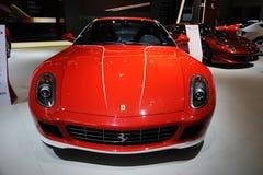 Röd Italien Ferrari 599 gtbfiorano Royaltyfria Bilder