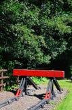 Röd järnväg buffert Royaltyfri Fotografi