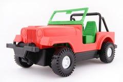 Röd jeep Fotografering för Bildbyråer