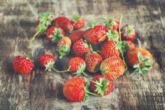 Röd jordgubbecloseup Royaltyfria Bilder