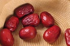 Röd jujube--en mat för traditionell kines arkivbilder