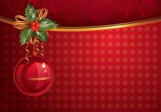 röd jul backdrop1 Arkivfoton
