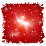 Röd jul med stjärnor Royaltyfri Illustrationer