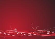 Röd julbakgrund Royaltyfria Bilder