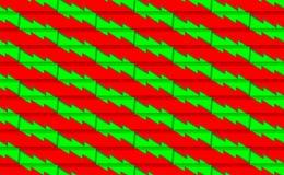 Röd julbakgrund med det gröna trädet från remsor Modernt för nya år Vektorillustration för design och att dekorera xmas vektor illustrationer