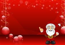 Röd julbakgrund med Santa - 3 Royaltyfri Bild