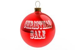 Röd julförsäljningsBauble Arkivfoto