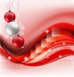 Röd julferiebakgrund Royaltyfri Fotografi