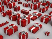 Röd julGif-ask royaltyfria foton