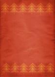 Röd julgranbakgrund Royaltyfri Fotografi