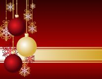 Röd julkort royaltyfri illustrationer