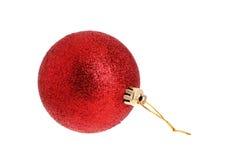 Röd julornamnet Royaltyfria Foton
