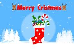Röd julsockafärg arkivbild