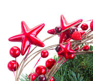 Röd julstjärna Fotografering för Bildbyråer