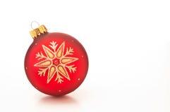 Röd julstruntsak Arkivfoto