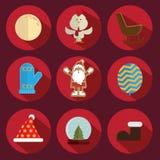 Röd julsymbol Royaltyfri Fotografi
