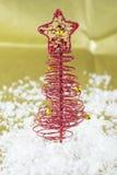 Röd jultree Royaltyfria Bilder