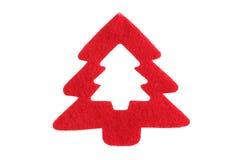 Röd jultree Arkivbild