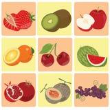 Röd körsbär med stilsorten Royaltyfri Foto