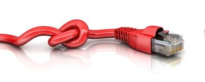 Röd kabeldisconnect Arkivbild