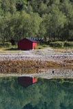 Röd kabin av Meloey Royaltyfri Fotografi
