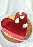 Röd kaka för de som älskar Royaltyfri Foto
