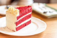 Röd kaka för sammet Arkivfoto