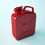 Röd kanister Royaltyfri Foto