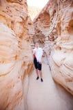Röd kanjon och gerl Royaltyfri Fotografi