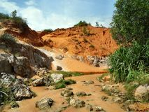 Röd kanjon Vietnam arkivfoto