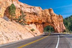 Röd kanjontunnel, Utah Royaltyfri Fotografi