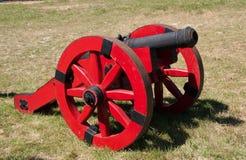 Röd kanon Fotografering för Bildbyråer