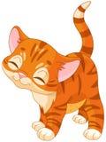 Röd kattunge royaltyfri illustrationer