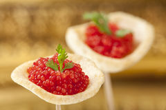 Röd kaviar Arkivbild