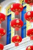 Röd kinesisk lykta Arkivbilder