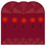 Röd kinesisk lykta - illustration Arkivfoto