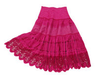 Röd kjol Arkivbilder