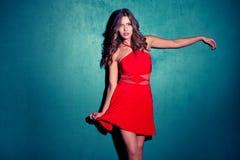 Röd klänning Royaltyfria Bilder